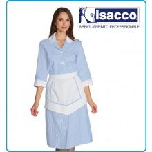 Camice Lipari Isacco Con Grembiulino Rigatino Azzurro Art.007362