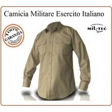Camicia Manica Lunga Esercito Color Kaky Sabbia MilTec Art.10931004