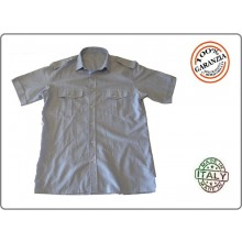 Camicia Grigia Militare Con Spalline Manica Corta FAV Italia Art.FAV-CGV
