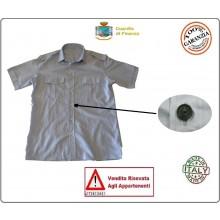 Camicia Grigia Nuovo Modello GDF Guardia di Finanza Militare Con Spalline Manica Corta FAV Italia Art.FAV-CGDF