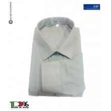Camicia Manica Lunga con Spalline per Gradi Grigia Vigilanza Ambientale GPG IPS  FAV Italia  Art.FAV-CG