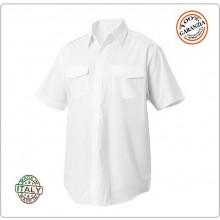 Camicia Bianca Manica Corta Modello Militare Con Spalline FAV Italia Art.FAV-C-MCB