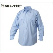 Camicia Militare Azzurra Manica Lunga Mil Tec Guardie Giurate Aeronautica Vigilanza Art.10931011