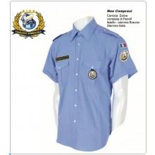 Camicia Estiva Azzurra Manica Corta con Spalline Militare A.I.S.A. Art.FAV-A-MC