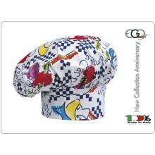 Cappello Copricapo Berretto Cap Cuoco Chef Ego Chef Italia Fantasy Art.7000102A