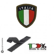 Patch Scudetto Itali Verde con Velcro  Art.GM001