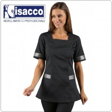 CASACCA ABERDEEN NERO + LUREX SILVER 65% Pol. 35% Cot. ISACCO Art. 005341