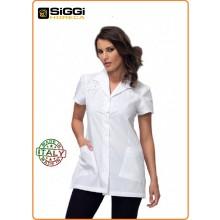 Casacca Professionale  Estetista Medicale  Bianca Gaia Siggi Italia Art.28CS1016