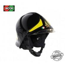 Casco Elmo Protettivo Intervento Vigili Del Fuoco Originale Sicor Italia Nero VFR 2009-PRO Art.5425500201