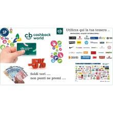 Tessera Ritorno di Denaro CB Cashback World GRATIS Ogni Acquisto ti Torna dal 5% al 20% Art.GRATIS