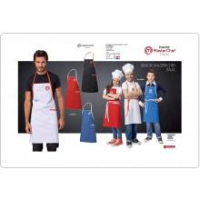 Parannanza Grembiule con Pettorina Falda BIANCA con Ricamo Master Chef Jiunior Masterchef Originali Siggi Con Il Tuo Nome Ricamato Art.26PZ0337-B