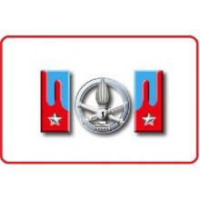 Mostrine Alamari Giacca o Camicia Esercito Italiano Carristi Art.NSD-A-CAR