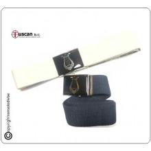 Cintura Canapa Nuovo Modello Blu Nevy Bianca Nera Bande Musicali Tuscan Art.TUSCAN-C3