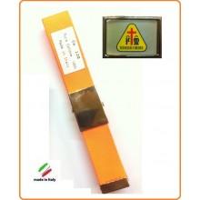 Cintura Canapa Arancio Fluò Misericordia Vetrificata Art.CIN-28