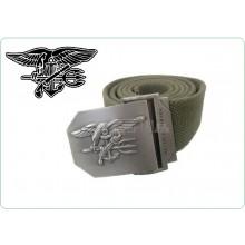 Cintura Canapa Blu Con Placca In Rilievo Blts US NAVY SEAL Mil Tec  Art.13113801