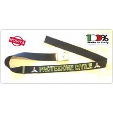 Cintura Canapa Blu Nevy Protezione Civile Vetrificata con Ricamo  PC sulla Cinghia Novità 2018 Art.CIN-PC