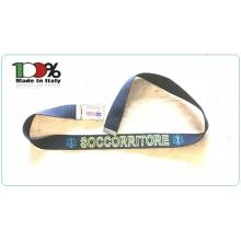 Cintura Canapa Soccorso Sanitario 118 Vetrificata con Ricamo Tessuto Novità 2018 Art.CIN-118