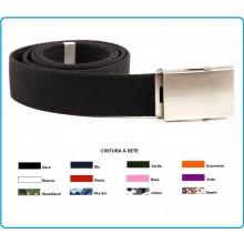 Cintura Militare Canapa Fibbia Neutra Cintura a Rete Web Belt Tutti i Colori INC101 Art.241253