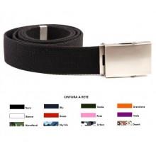 Cintura Militare Canapa Fibbia Neutra Cintura a Rete Web Belt Tutti i Colori INC101 Art. 241253