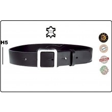 Cinturone Cintura in Cuoio con Rinforzo in Zona Fondina H5 Nera Vega Holster  Art.1V50