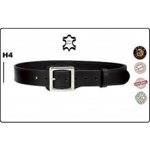 Cinturone Cintura in Cuoio con Rinforzo in Zona Fondina H4 Nera Vega Holster Italia Art.1V51