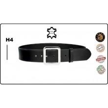 Cintura in Cuoio Altezza 4 cm. con Fibbia ad un Ardiglione Vega Holster Italia Vigilanza Polizia Sicurezza Art.1V61