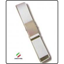 Cintura Canapa Bianca Fibbia a Scatola cm 120  Art.SBB-B-120