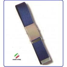 Cintura Canapa Blu  Fibbia a Scatola cm 120  Art.SBB-B-120