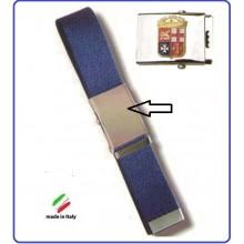 Cintura Canapa Blu Con Placca In Rilievo Marina Militare Italiana Art.FAV-MMM