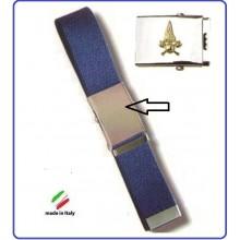 Cintura Canapa Blu Con Placca In Rilievo Vigili Del Fuoco  Art.FAV-VVFCB