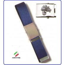 Cintura Canapa Blu Con Placca In Rilievo Carabinieri Fiamma Argento  Art.CIN-10