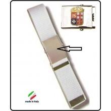 Cintura Canapa Bianca Con Placca In Rilievo Marina Militare Art.FAV-MMC
