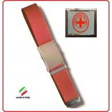 Cintura Canapa  Rossa Croce Rossa Italiana Rossa Nuovo Capitolato Vetrificata Art.CIN-40