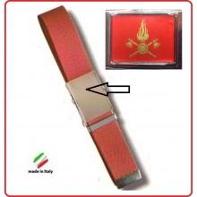 Cintura Canapa Rossa Vigili Del Fuoco Vetrificata Art.CIN-7