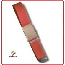 Cintura Canapa Rossa Fibbia a Scatola cm 120  Art.CIN-38