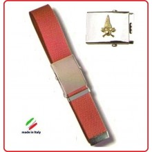 Cintura Canapa Rossa Con Placca In Rilievo Vigili Del Fuoco  Art.FAV-VVFCR