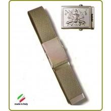 Cintura Canapa Verde Esercito Italiano Rilievo  Art.CIN-1