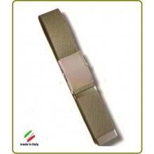 Cintura Canapa Verde OD Fibbia a Scatola cm 120  Art.SBB-V-120