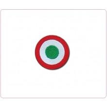 Patch Toppa Ricamata Coccarda Tricolore Aeronautica  SArt.COC-FRECCE