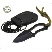 Piccolo Coltello 9 Difesa Personale Combattimanto Neck Knife  cm con Catena Security collo COLTELLO dito COLTELLO KYDEX MIL-TEC Art.15398100