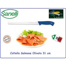 Coltello Professionale Salmone Olivato cm 31 Sanelli Linia Lario Italia Art.305731A