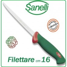 Linea Premana Professional Knife Coltello Filettare Pesce cm 16 Sanelli Italia Art.107616