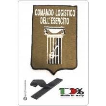 Patch Toppa Ricamata con Velcro COMANDO LOGISTICO DELL'ESERCITO  cm 7x11  Art.NSD-COMANDO