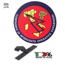 Patch Toppa Ricamata Carabinieri Compagnia di Intervento Operativo Carabinieri Grande Art.CC-I
