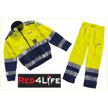 Completo Giacca + Pantaloni Protezione Civile Red4Life Gruppo Siggi Art.08GB0077-08PA0743