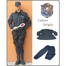 Completo Operativo Ordine Pubblico Tuta Operativa  Giacca + Pantaloni Colore GRIGIO GPGIPS Guardia Particolare Giurata Polizia  Venatoria Federcaccia Art.OP-G-GPGIPS