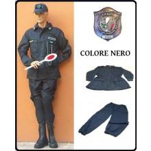 Completo Operativo Ordine Pubblico Tuta Operativa  Giacca + Pantaloni Colore NERO GPGIPS Guardia Particolare Giurata Art.OP-N-GPGIPS