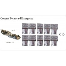 Telo Coperta in Fil Emergenza  INGROSSO  10 pezzi  Protezione Civile Soccorso Alpinismo Art.27133-I