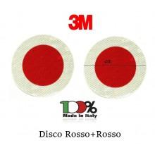 Coppia di Dischi Rosso + Rosso Classe III° Neutri 3M Facilmente Personalizzabile Art. DIS-012