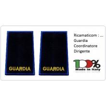 Tubolari Ricamati Bordo Azzurro GPG VOLONTARI GUARDIA - COORDINATORE - DIRIGENTE Art.GPG-AGRI